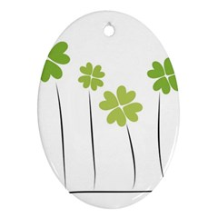 Clover Oval Ornament (two Sides) by magann