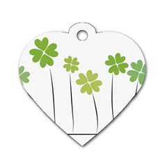 Clover Dog Tag Heart (one Sided)  by magann