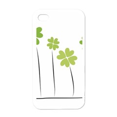 Clover Apple Iphone 4 Case (white) by magann