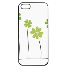 Clover Apple Iphone 5 Seamless Case (black) by magann