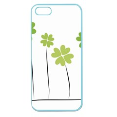 Clover Apple Seamless Iphone 5 Case (color) by magann
