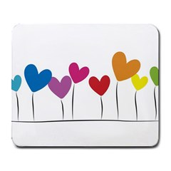 Heart Flowers Large Mouse Pad (rectangle) by magann
