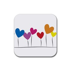 Heart Flowers Drink Coasters 4 Pack (square) by magann