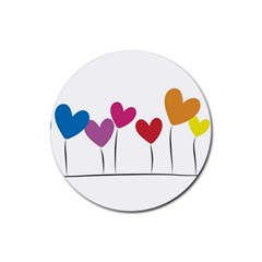 Heart Flowers Drink Coasters 4 Pack (round) by magann