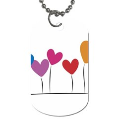Heart Flowers Dog Tag (one Sided) by magann