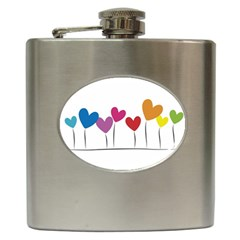 Heart Flowers Hip Flask by magann