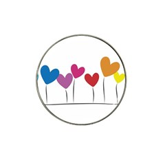 Heart Flowers Golf Ball Marker 4 Pack (for Hat Clip) by magann