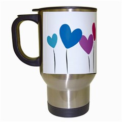 Heart Flowers Travel Mug (white) by magann