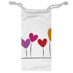 Heart Flowers Jewelry Bag by magann