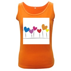 Heart Flowers Womens  Tank Top (dark Colored) by magann