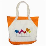 Heart flowers Accent Tote Bag Front