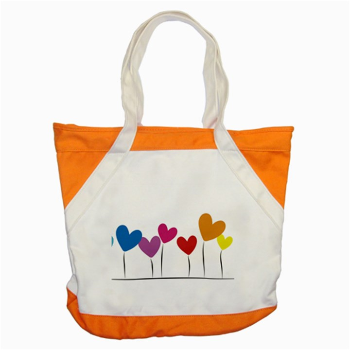Heart flowers Accent Tote Bag