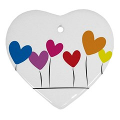 Heart Flowers Heart Ornament (two Sides) by magann