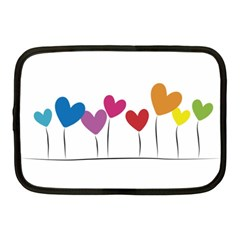 Heart Flowers Netbook Case (medium) by magann
