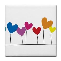 Heart Flowers Face Towel by magann