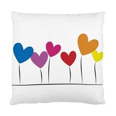 Heart Flowers Cushion Case (one Side)