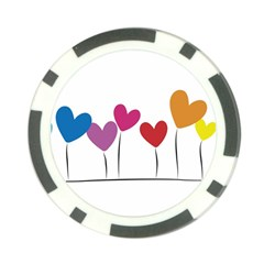 Heart Flowers Poker Chip 10 Pack by magann