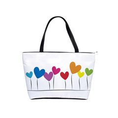Heart Flowers Large Shoulder Bag by magann