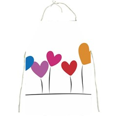 Heart Flowers Apron by magann