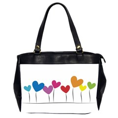 Heart Flowers Oversize Office Handbag (two Sides) by magann