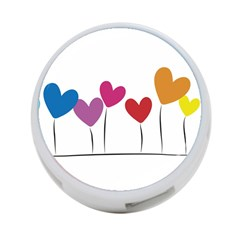 Heart Flowers 4 Port Usb Hub (two Sides) by magann