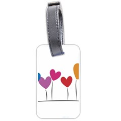 Heart Flowers Luggage Tag (two Sides) by magann