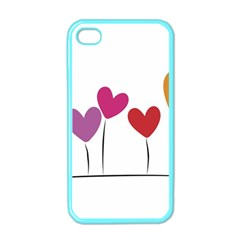 Heart Flowers Apple Iphone 4 Case (color) by magann