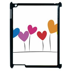 Heart Flowers Apple Ipad 2 Case (black) by magann