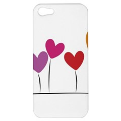 Heart Flowers Apple Iphone 5 Hardshell Case by magann