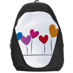 Heart Flowers Backpack Bag by magann