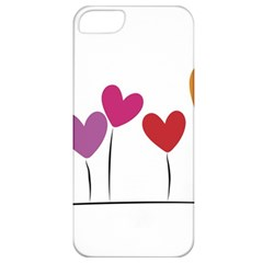 Heart Flowers Apple Iphone 5 Classic Hardshell Case by magann