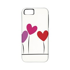 Heart Flowers Apple Iphone 5 Classic Hardshell Case (pc+silicone) by magann