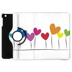 Heart Flowers Apple Ipad Mini Flip 360 Case by magann