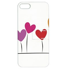 Heart Flowers Apple Iphone 5 Hardshell Case With Stand by magann