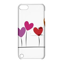 Heart Flowers Apple Ipod Touch 5 Hardshell Case With Stand by magann