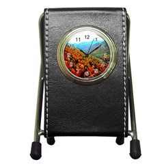 Through The Mountains Stationery Holder Clock by Majesticmountain