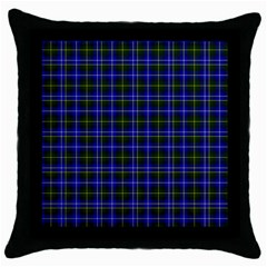 Macneil Tartan   1 Black Throw Pillow Case by BestCustomGiftsForYou
