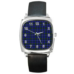 Macneil Tartan   1 Square Leather Watch by BestCustomGiftsForYou