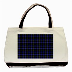 Macneil Tartan   1 Twin Sided Black Tote Bag by BestCustomGiftsForYou