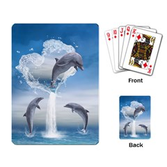 The Heart Of The Dolphins Playing Cards Single Design by gatterwe