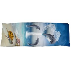 The Heart Of The Dolphins Body Pillow Case (Dakimakura) by gatterwe