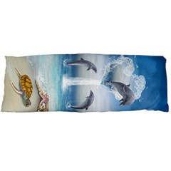 The Heart Of The Dolphins Body Pillow Case Dakimakura (Two Sides) by gatterwe