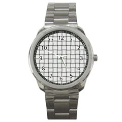White Weave Sport Metal Watch by BestCustomGiftsForYou