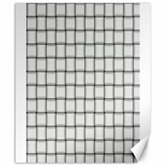 White Weave Canvas 20  X 24  (unframed)