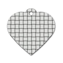 White Weave Dog Tag Heart (one Sided)  by BestCustomGiftsForYou