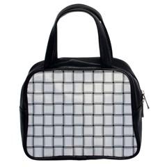 White Weave Classic Handbag (two Sides)