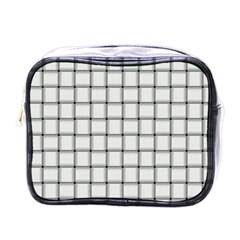White Weave Mini Travel Toiletry Bag (one Side) by BestCustomGiftsForYou