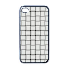 White Weave Apple Iphone 4 Case (black)