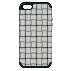 White Weave Apple Iphone 5 Hardshell Case (pc+silicone)