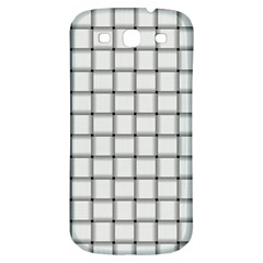 White Weave Samsung Galaxy S3 S Iii Classic Hardshell Back Case by BestCustomGiftsForYou